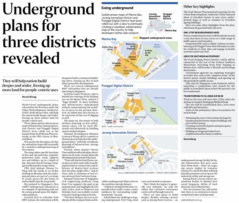 Underground plans for 3 districts revealed