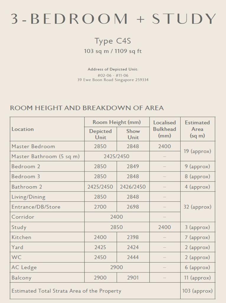 3br floor plan specs